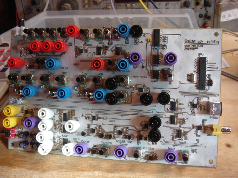 Color Me Baddly Analog Video Synth Mark 6